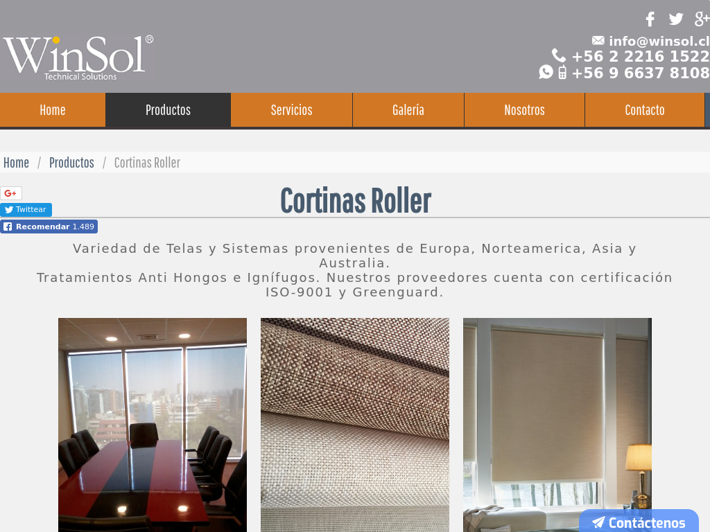Cortinas Rollers Blackouts