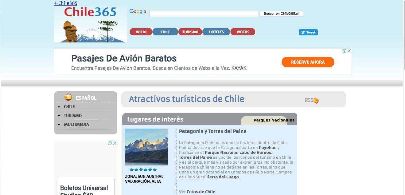 viajes a la Patagonia