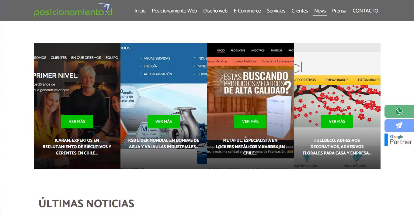 Diseño web en Santiago