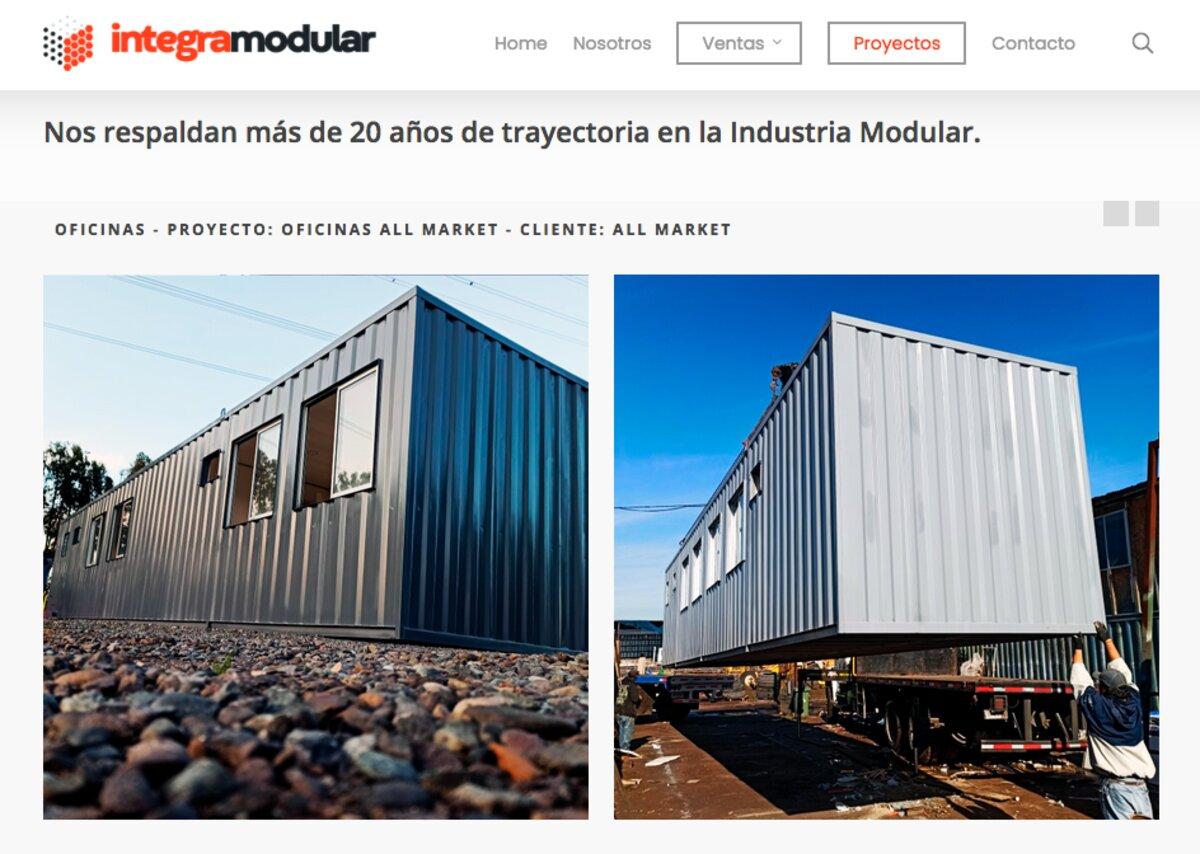 Oficina modular en la RM