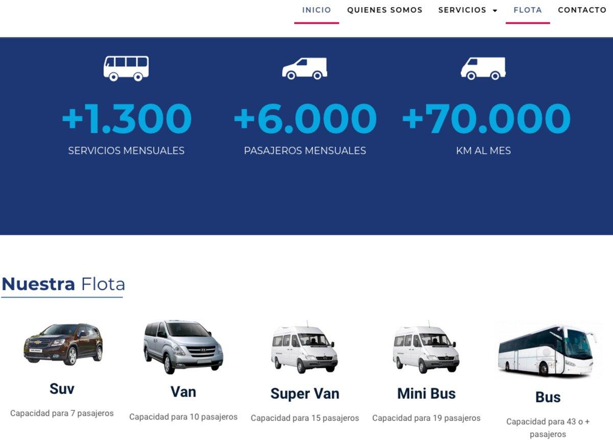 Transporte de pasajeros en santiago centro